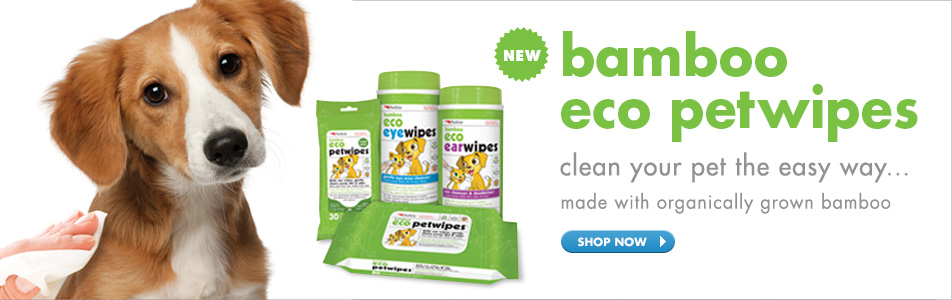 bamboo eco petwipes - clean your pet the easy way… made with organically grown bamboo